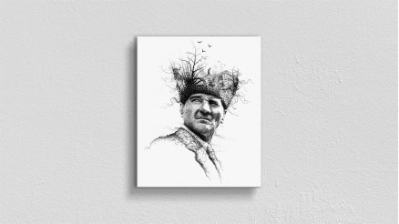 Atatürk İlüstrasyon Kanvas Tablo