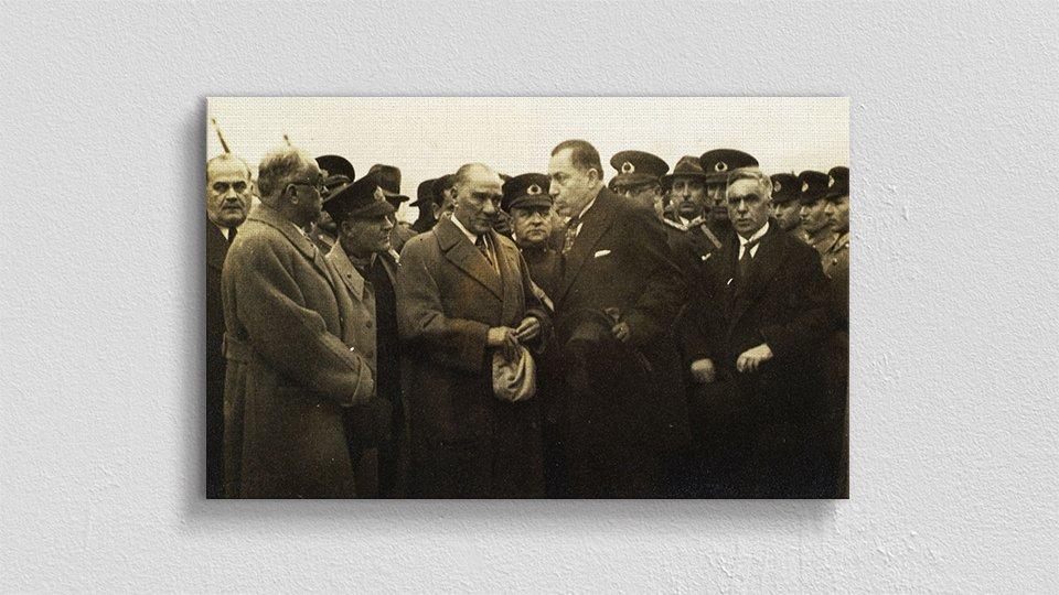 Atatürk Temalı Kanvas Tablo