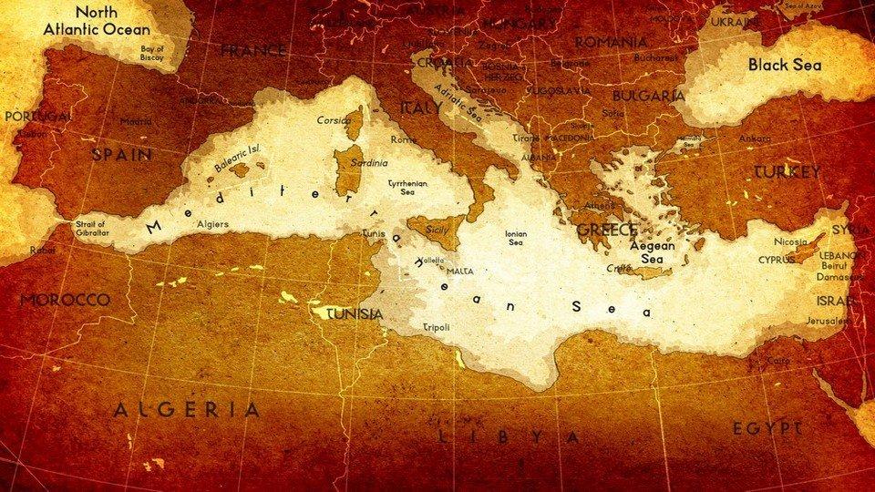 DH-90017060 - Harita Temalı Kanvas Tablo