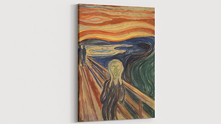 Edvard Munch The Scream-Çığlık Kanvas Tablo