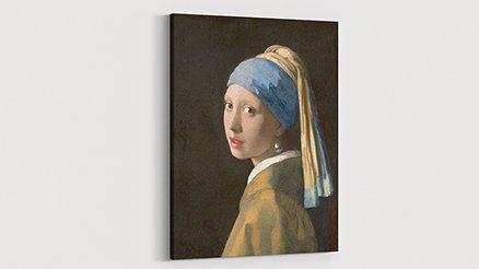 Johannes Vermeer İnci Küpeli Kız Kanvas Tablo
