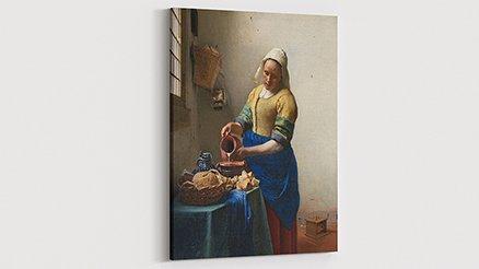Johannes Vermeer Süt Boşaltan Kadın Kanvas Tablo
