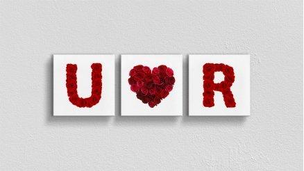 Sevgililer Günü Baş Harfler Yatay