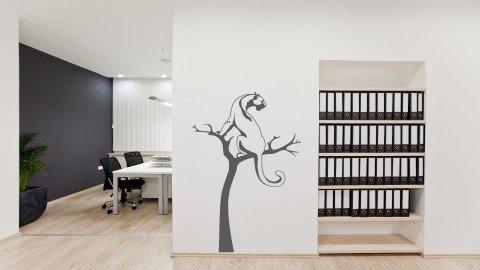 Ağaç Üzerindeki Çita Duvar Stickeri
