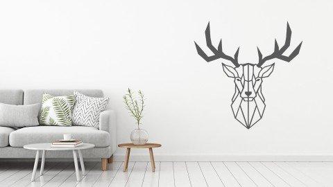 Dekoratif Geyik Duvar Stickeri