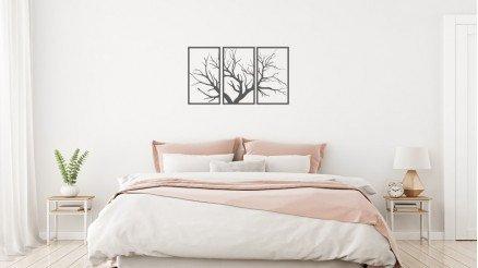 3 Parça Çerçeveli Ağaç Duvar Stickeri