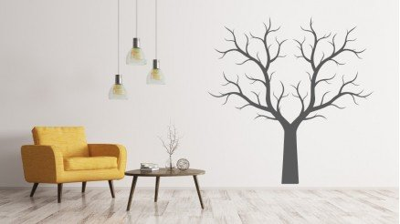 Büyük Yapraksız Ağaç Duvar Stickeri