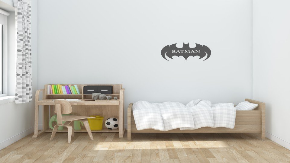 Batman Logo Duvar Stickeri