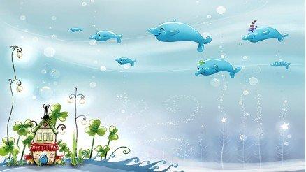 Uçan Balinalar Duvar Kağıdı