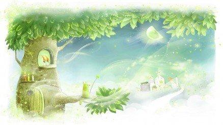Ağaç Temalı Duvar Kağıdı
