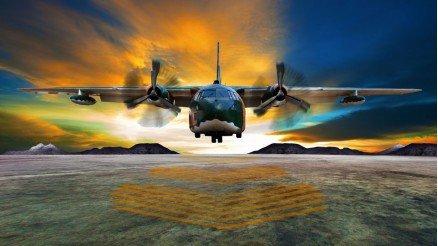 İnişteki Uçak Duvar Kağıdı