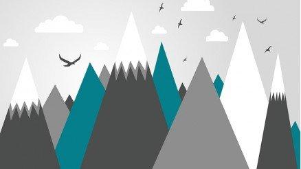 Renkli Dağlar Duvar Kağıdı