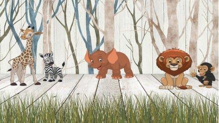Eğlenceli Hayvanlar Duvar Kağıdı