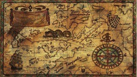 El Çizimi Dünya Bölge Haritası Duvar Kağıdı