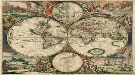 Eski Dünya Haritası Duvar Kağıdı