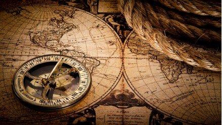 Pusula ve Harita Duvar Kağıdı
