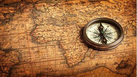 Dünya Haritası Pusula Duvar Kağıdı