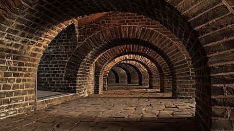 Tarihi Briket Tünel Duvar Kağıdı