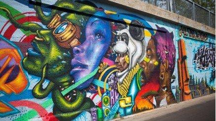 Sanatsal Grafiti Duvar Kağıdı