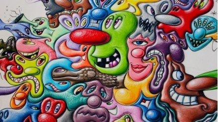 Fluid Face Grafiti Duvar Kağıdı