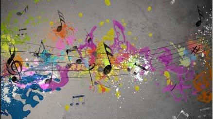 Müzik Temalı Grafiti Duvar Kağıdı