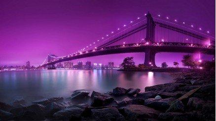 Mor Gökyüzü Köprü Duvar Kağıdı
