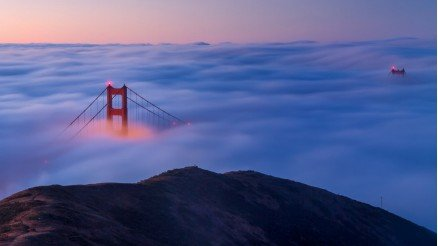 Zirveden Golden Gate Köprüsü Duvar Kağıdı