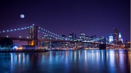 Gece Köprü Manzarası Duvar Kağıdı