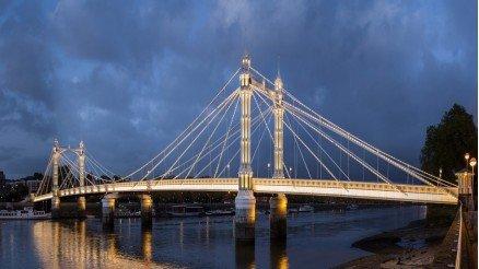 Köprü ve Işıklandırma Duvar Kağıdı