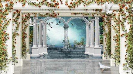 Gül Bahçesi Mozole Duvar Kağıdı
