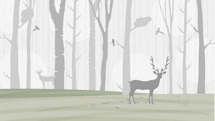 Ormandaki Geyikler Duvar Kağıdı