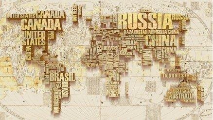 3 Boyutlu Ülke İsimleri Duvar Kağıdı