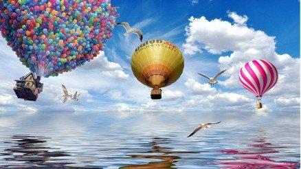 Balonlar ve Deniz Duvar Kağıdı