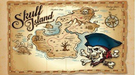 Korsan Temalı Dünya Haritası Duvar Kağıdı