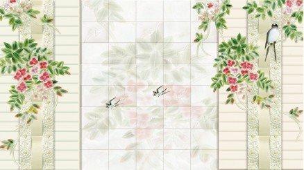 Çiçekli Derin Duvar Kağıdı