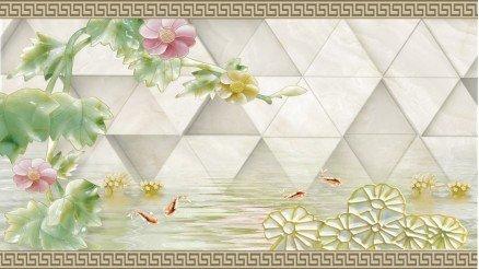 Çiçek Desenli Duvar Kağıdı