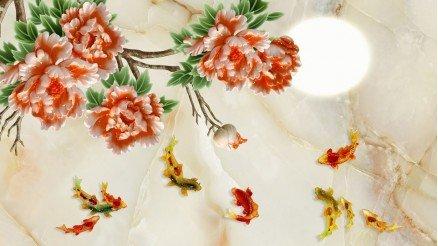 Çiçek Temalı Duvar Kağıdı
