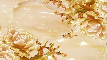Sarı Çiçek Temalı Duvar Kağıdı