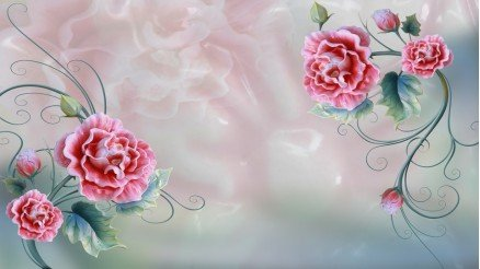 Çiçekli Duvar Kağıdı