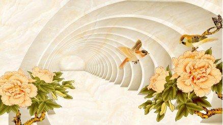 Çiçekli Derinlik Duvar Kağıdı