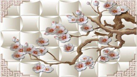 Bahar Çiçekli Duvar Kağıdı