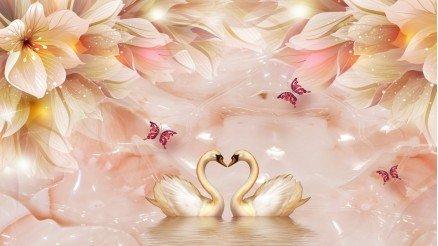 Aşk Kazları Duvar Kağıdı