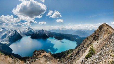 Dağlar ve Göl Manzarası Duvar Kağıdı