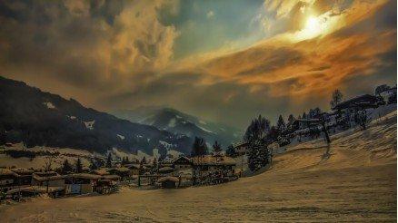 Güneş ve Kar Duvar Kağıdı