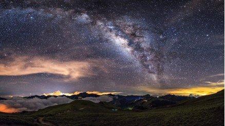 Galaksinin Aynası Gökyüzü Duvar Kağıdı