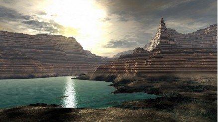 Göl ve Kanyon Duvar Kağıdı
