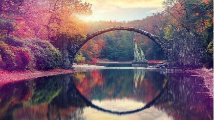 Almanya Kromlau Şeytan Köprüsü Duvar Kağıdı
