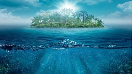Su Altı ve Ada Duvar Kağıdı