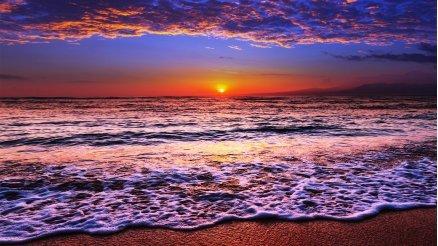 Gün Batımı ve Deniz Duvar Kağıdı