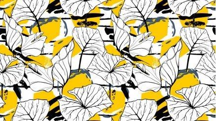 Sarı Siyah Beyaz Duvar Kağıdı
